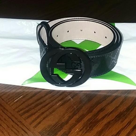 6fe30d35f Gucci Accessories | Belt Fu49x Black Embossed Logo 90cm | Poshmark